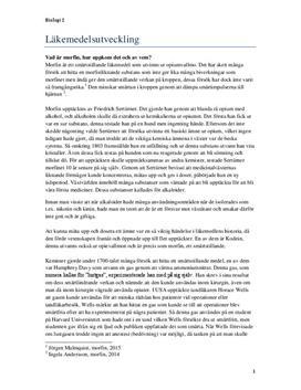 Läkemedelsutveckling: Morfin | Sammanfattning