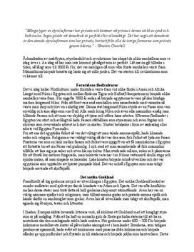 Från forntid till upplysningen   Sammanfattning