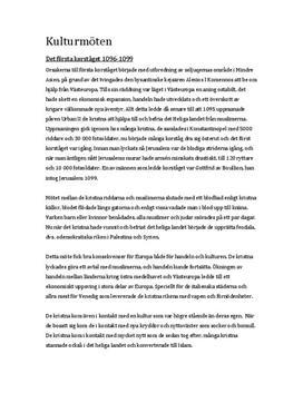 Kulturmöten: Det första korståget   Utredande text