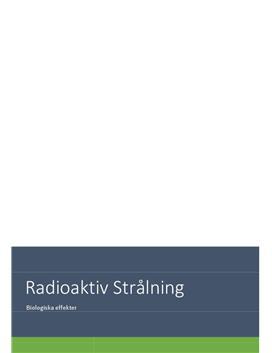 Radioaktiv strålning | Undersökning | Fysik 1a
