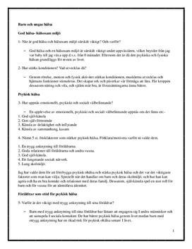 Barn och ungas hälsa | Frågor och svar