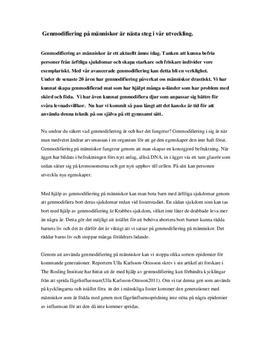 Debattartikel: Genmodifiering av människor