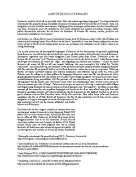 Jämställdhet och feminism | Diskuterande text