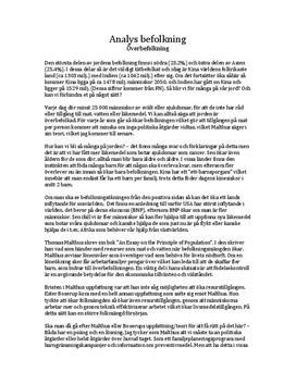Överbefolkning | Analys