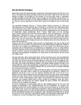 Den järnhårda lönelagen | Malthus | Diskuterande text