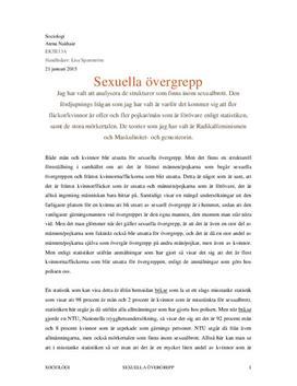 Sexuella övergrepp | Strukturer och teorier | Fördjupningsarbete