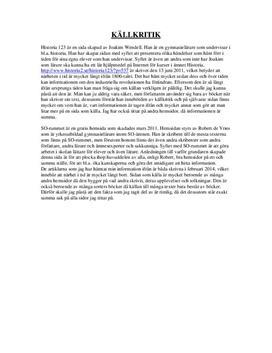 Källkritik: Historia 123 och SO-rummet