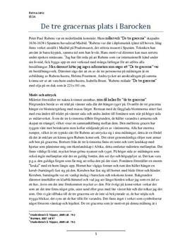 De tre gracerna |Rubens | Analys