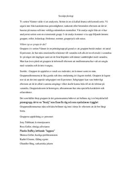 Vänner: Gruppdynamik och normer | Socialpsykologisk analys