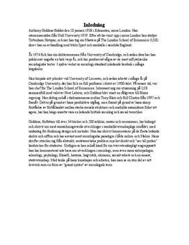 Anthony Giddens - En skenande värld | Sammanfattning och analys