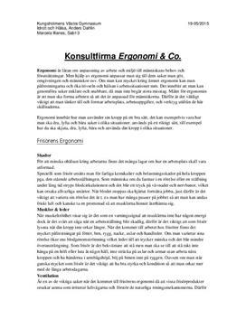 Frisörens ergonomi | Inlämningsuppgift i Idrott och hälsa 1