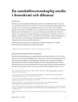 Jämförelse: Demokrati och diktatur | Analys