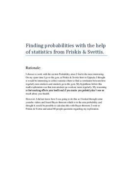 Probability: Smokers going to the gym | Matematik