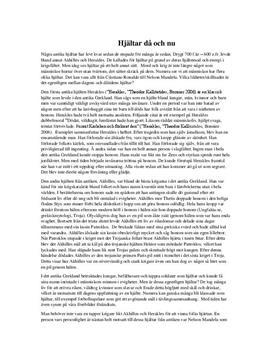 Dagens och dåtidens hjältar | Diskuterande text
