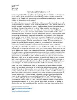 Analys av filosofiska kunskapsteorier | Humes och Platon