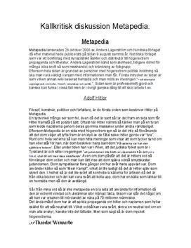 Källkritisk diskussion: Metapedia