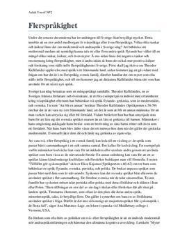 Ett mångspråkigt samhälle | Flerspråkighet | Utredande text