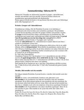 Grupper och perioder i periodiska systemet | Sammanfattning | Kemi