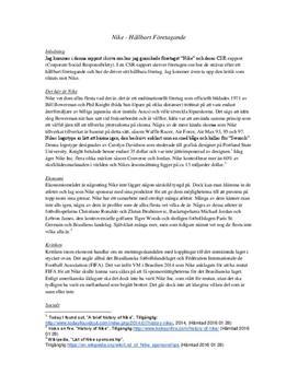 Nikes CSR-rapport | Analys