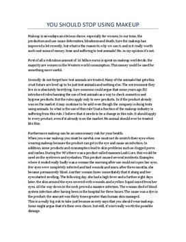 Argumentary essay