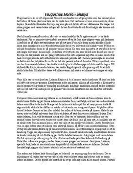 Analys av Flugornas herre | Ledarskap och organisation