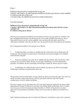 Sociologi: Integrationsmodeller och Klassresor