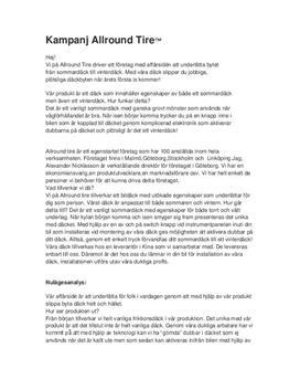 Kampanjplan | Däckföretag