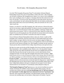 Novellanalys: Mrs Ganapathys blygsamma triumf - Manjula Padmanabhan