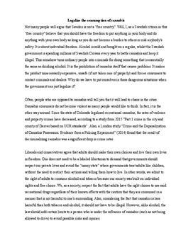 Cannabis   Argumentative essay
