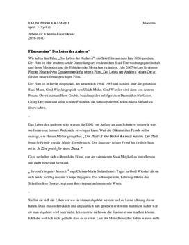Das Leben der Anderen | Filmrecension | Tyska steg 3