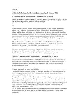 Israels bildande och konflikten | Frågor och svar