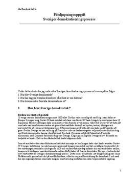 Sveriges demokratiseringsprocess | Fördjupningsuppgift
