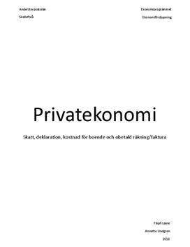 Ekonomifördjupning i privatekonomi
