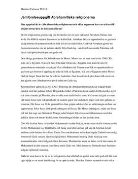 Abrahamitiska religioner | Jämförelse | Frågor och svar
