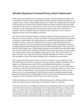 Argumentative essay about mobile phone