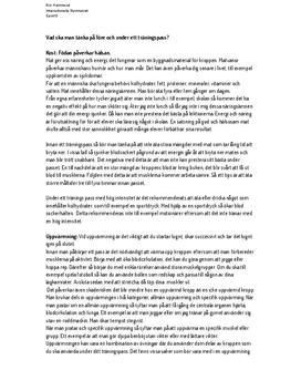 Träningsgrunder med övningsplan | Idrott och hälsa | Fördjupningsarbete