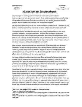 GMO som ett alternativ till besprutning | Fördjupningsuppgift | Biologi
