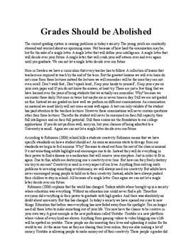 Grades   Argumentative text