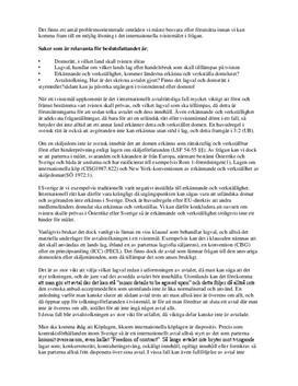 Internationella tvistemål | Affärsjuridik