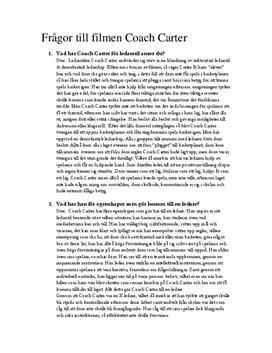Coach Carter | Frågor och svar