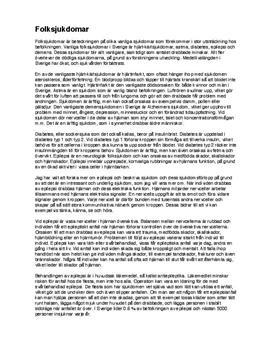 Folksjukdomar i Sverige | Fördjupningsuppgift | Naturkunskap