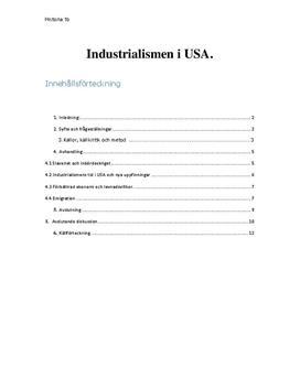 Industrialismen i USA | Fördjupningsuppgift