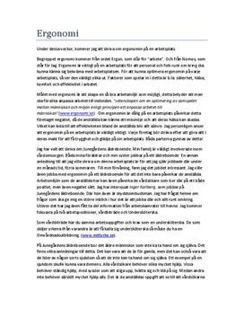 Ergonomi på Äldreboende | Fördjupningsuppgift