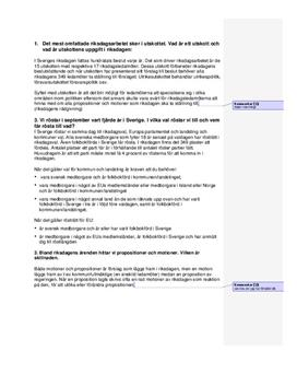 Sveriges statsskick | Instuderingsfrågor