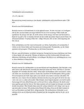 Världshandeln och kolonialismen | Instuderingsfrågor