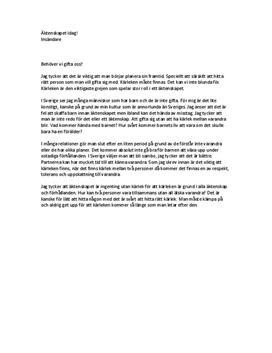 58e11784732f Äktenskap och kärlek | Insändare - Studienet.se