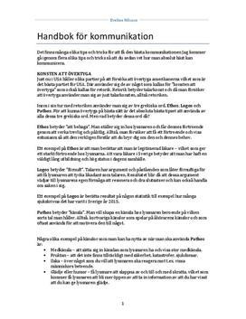 Handbok för kommunikation | Fördjupningsuppgift