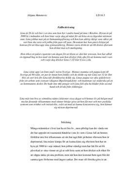 Fallbeskrivning | Analys