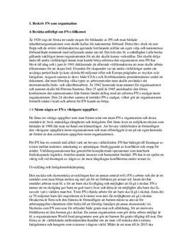 FN | Instuderingsfrågor