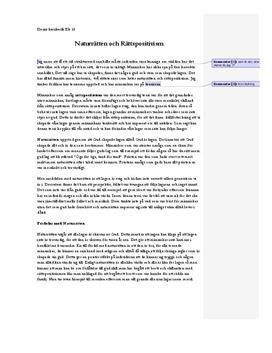 Naturätten och rättpositivism   Inlämningsuppgift